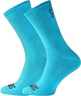 comprar comparacion Support Calcetines de Ciclismo para Hombres, tecnología Transpirable, Fibra Antideslizante, Divertidos Unisex, Ciclistas p...