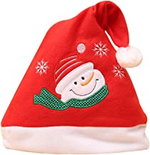 Fine Christmas Funny Cap,Christmas Hat Children's Decorations Gift High-Grade Double Plush Christmas Hat,Xmas Santa Claus' Cap for Holiday Party