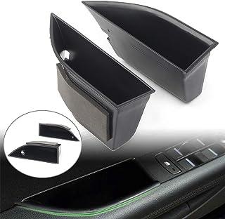 2 piezas puerta frontal Para Evoque 2016 2017 Car Plactic Negro Door Storage Box Glove Container Tray Accessories