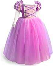 ToLaFio Princess Costume for Girls Dress Birthday Role Play Dress Up Ball Gown