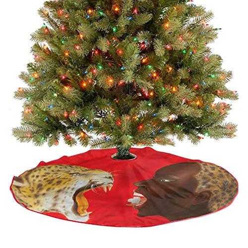 Falda grande para árbol de Navidad, figura de mujer joven, decoración de día festivo, adornos para decoración de árbol de Navidad, fiesta de fiesta, diámetro – 91,4 cm