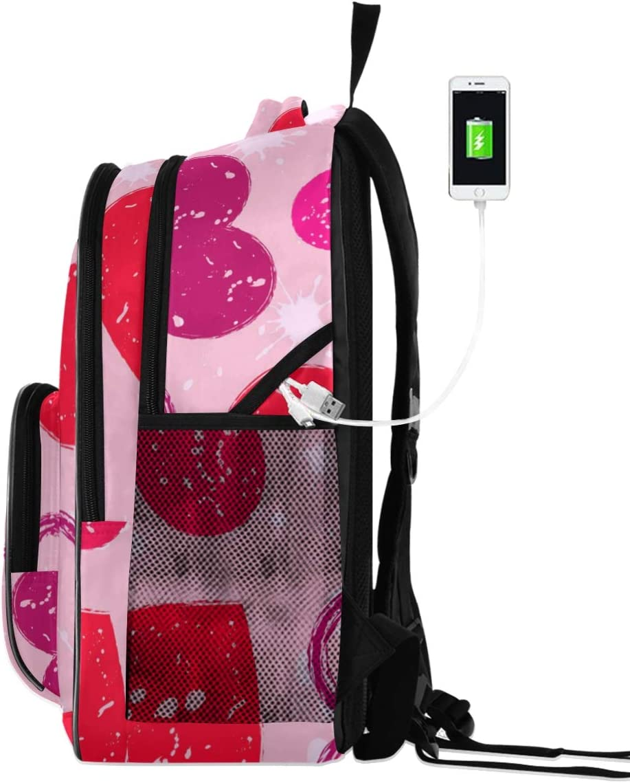 ALAZA Valentines Day Love Business Travel Hiking Camping Rucksack Pack for Men and Women