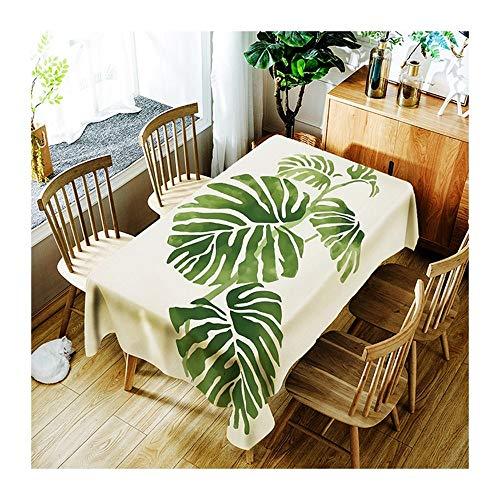 ZHAOXIANGXIANG l'art Minimaliste Tapis De Table Plante Verte Table Cloth Décoration Maison Pique-Nique Dîner Table Cloth Impression Taille Assorties,90Cm×130Cm