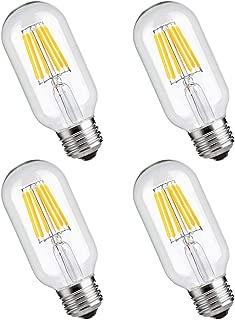 T45 Vintage Edison LED Bulb, 6W (60W Equivalent), Dimmable LED Light Bulbs, Filament LED Bulb 6W,Antique Style Light Bulbs, 2700K Warm White, E26 Medium Base Lamp, 550LM, 4 Pack
