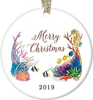 Under the Sea 2019 Ornament Cute Merry Christmas A Tropical Ocean of Season's Greetings Porcelain 3