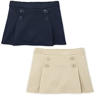 The Children's Place Baby 2 Pack and Toddler Girls Button Skort