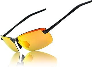 Men UV400 Rimless Aluminium-Magnesium Polarized Sunglasses For Driving Fishing Golf Outdoor