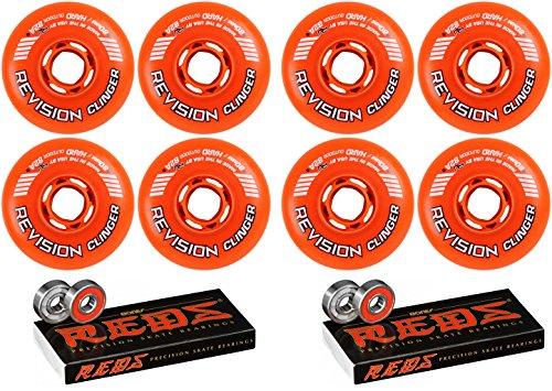 Revision Wheels Inline Roller Hockey-Klemmer, 72 mm, 82A, 8 Stück