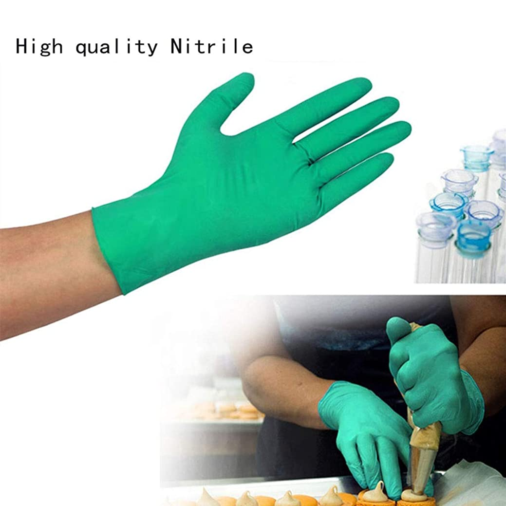 ロードハウス条件付き精神Mittsニトリル手袋、パウダーフリー、ラテックスゴムフリー、使い捨て手袋 - 非滅菌、食品安全、医療用グレード、100PSの便利なディスペンサーパック、(追加強度)(S-L) (サイズ さいず : M m)