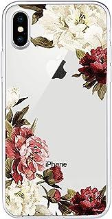 in Silicone Morbido Cover per iPhone XR XS Max AntiGraffio con Motivo Floreale 06 Blumenzweig Medium Tybaker Ultra Sottile
