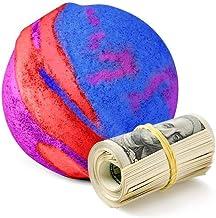 Cash Money Bath Bombs | Jumbo Size, 7.5oz | $2-$2500 Inside | Guaranteed Rare $2 Bill | Large Mystery Surprise Gift | (Rainbow Magic)