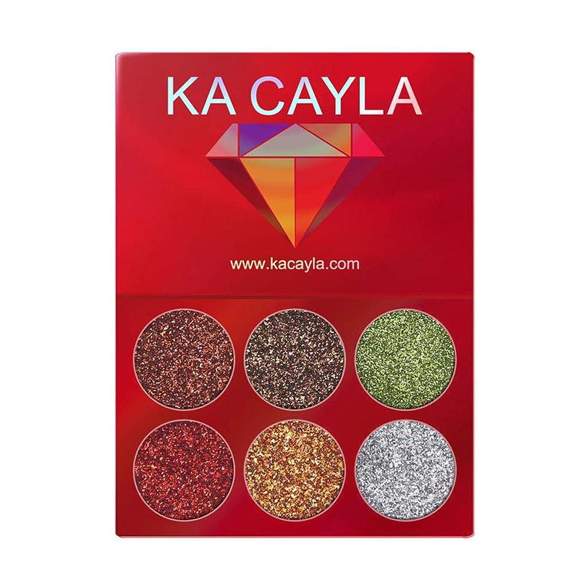 山岳高さ隠されたKA CAYLA化粧アイシャドウアイシャドウパレット化粧品セットアイシャドウ6色