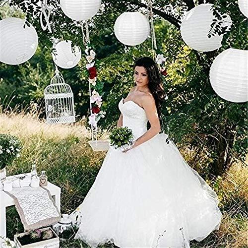20 lanterne di carta bianca cinesi giapponesi rotonde per feste di nozze
