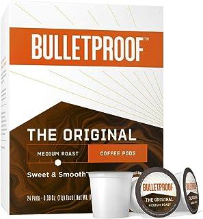 The Original Single-Serve Pods, Medium Roast, 24 Count, Bulletproof Keto, 100% Arabica Coffee, Certified Clean Coffee, Rai...