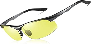 JABC New Day and Night Polarized Sunglasses Night Vision Goggles for Driving Color-Changing Sunglasses Smart Driver Glasses for Men and Women Ultralight Aluminum-Magnesium Frames Fashion Sports