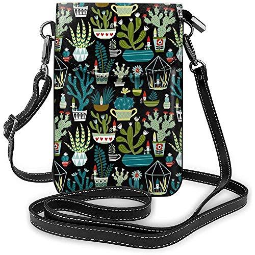 Interieur shop dwerge vetculenten cactus cacteen terrarium kleine schoudertas mobiele telefoon mini dode schoudertas
