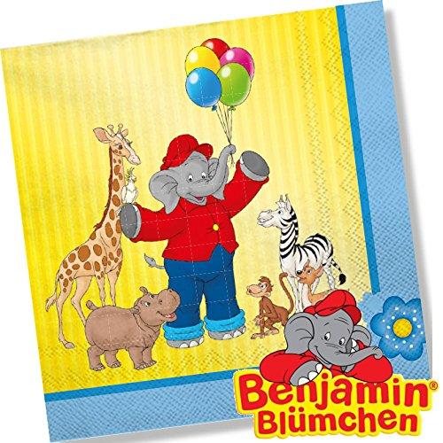 Benjamin Blümchen 20 Servietten Kinderparty und Kindergeburtstag von DH-Konzept // Töröööö // Elefant Kinder Papierservietten Party Set