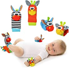 Newin Star Juguetes con Sonido,Calcetines Sonido,Calcetines de sonajero de Animal para beb/é 2PCS