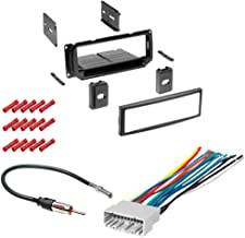 CACHÉ KIT757 Bundle with Complete Car Stereo Installation Kit Compatible with 2002-2005 Dodge Neon - in Dash Mounting Kit (with Pocket), Harness, Antenna for Single Din Radio Receiver (4 Item)