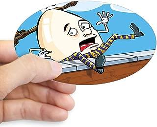 Sticker (Oval) Large Humpty Dumpty Sat On Wall