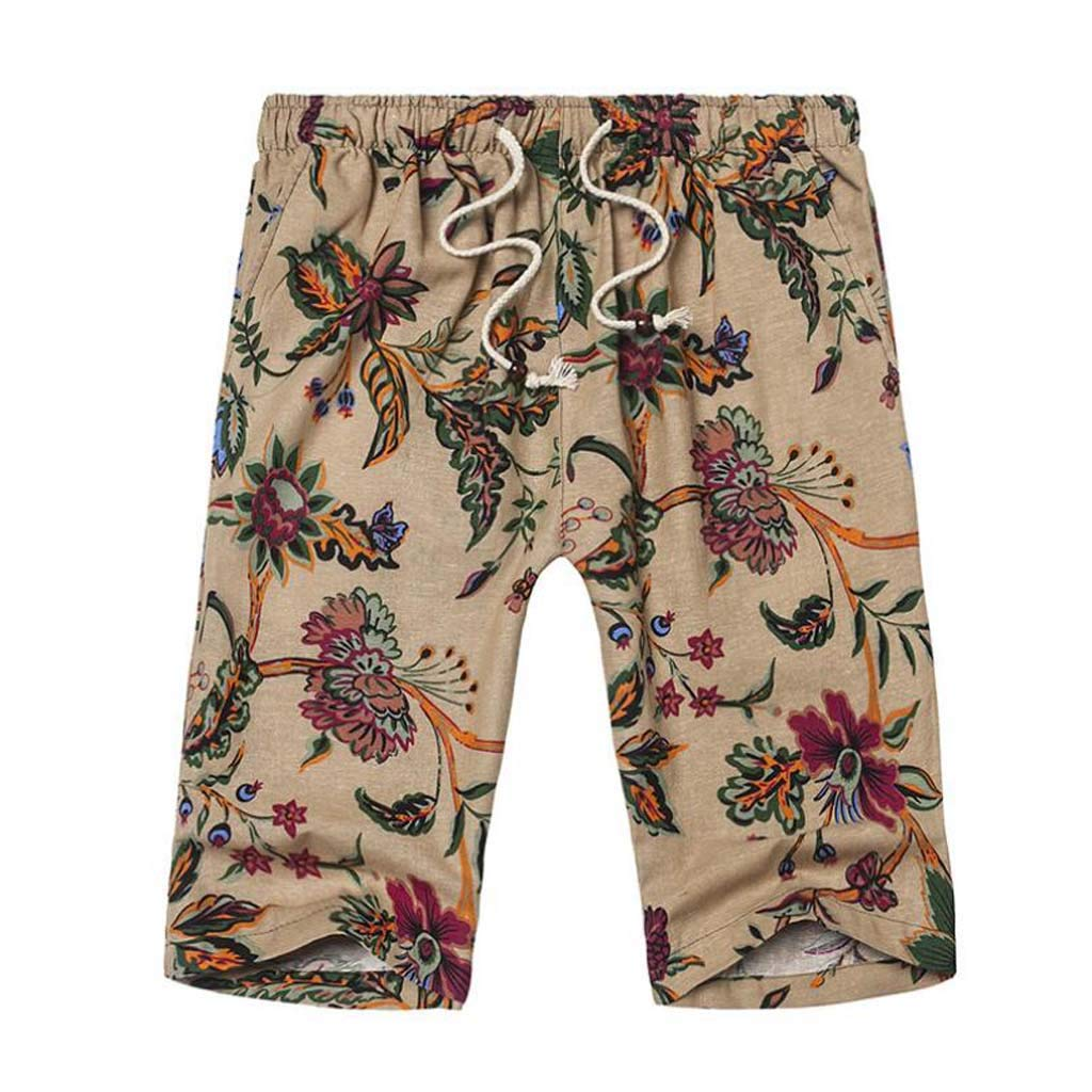Womens Beach Shorts Flower World Happy Mothers Day Swim Trunk with Pockets