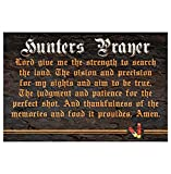 Lancy's Artworks Hunters Prayer Lord Give Me The Strength Hunting Motivational Quote Sticker Sign for Business Wall Window Any Smooth Surface