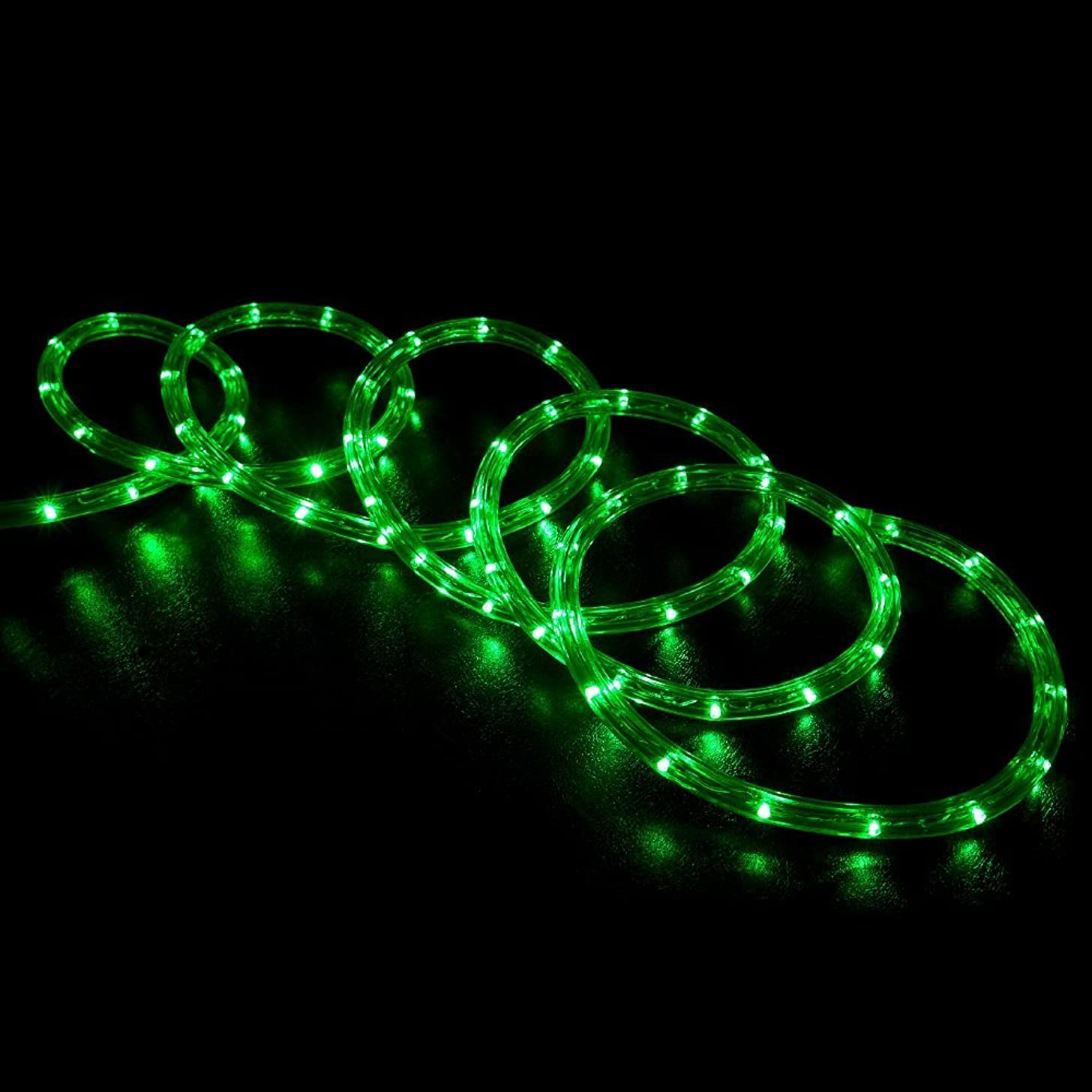 WYZworks 20' feet Green LED Rope Lights - Flexible 2 Wire Accent Holiday Christmas Party Decoration Lighting | UL Certified