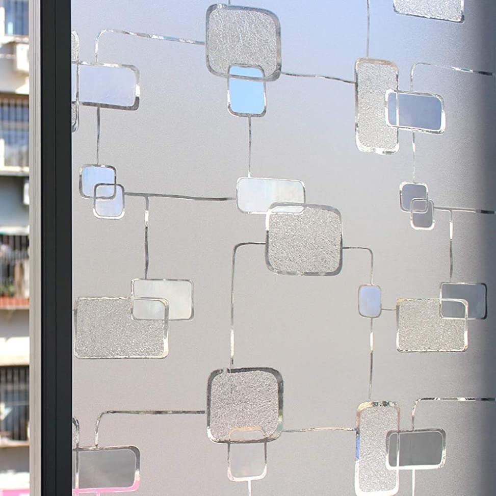 ベッツィトロットウッドフラップ半円窓用ステッカーガラスフィルムプライバシースクエア窓用フィルム装飾用フィルムシングルフィルム
