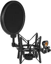 Honeytecs Univerdal Microfone Condensador de Plástico Microfone de Choque Suporte de Montagem Anti-vibração com Filtro Pop...