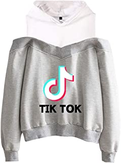 OHYOUNG TIK Tok Hoodie Off Shoulder Womens Jumpers C00605WY18