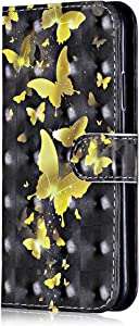 iPhone Plus Plus Case  Bear Village  Shock-Proof Protective Case with Credit Card Holder Slot  Style Leather Flip Folio Cover for Apple iPhone Plus Plus   1 Butterfly