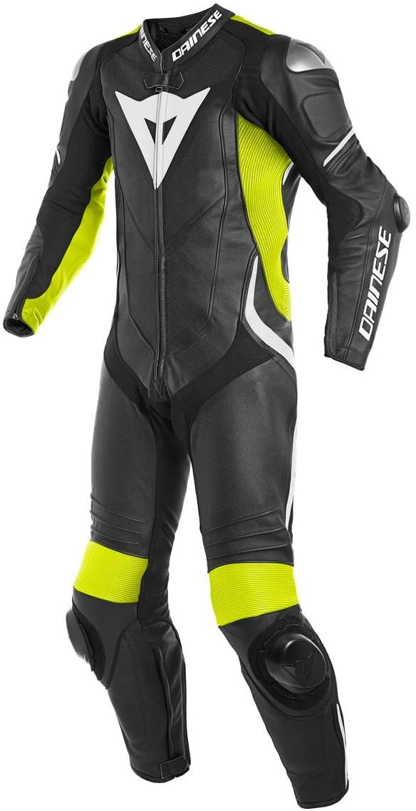 Dainese Laguna Seca 4 1PC Leather Perforated Mesa Mall Suit Fluo-Ye Black High quality