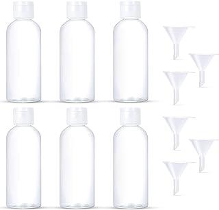 Jiyoujianzhu Lot de 10 flacons vides portables pour voyage avec bouchon 50 ml