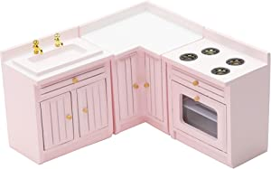 Z MAYABBO Wooden Dollhouse Furniture Set of Kitchen Room, 1:12 Scale Doll House Furnishings, Miniature Dollhouse Accessories for Dollhouse Toys, Playhouse Furniture, DIY etc.