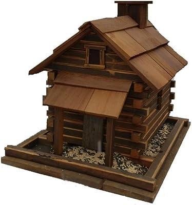 Home Bazaar Valley Forge Feeder (Large) - Natural Cedar