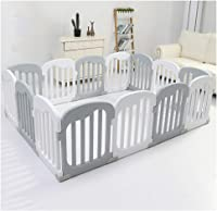 Baby playpen-SYY Playpens For Baby Children Toddlers Kids activity centre Easy to install Material Safety Soft Tones 3 Sizes (Color : Gray, Size : 146 * 146cm)