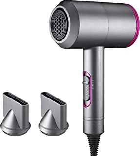 Ionic Hair Dryer, LARMHOI 2000W Professional Salon Negative Ionic Hair Blow Dryer with 3 Heat Settings, 2 Speed & One Cool Settings,2 Concentrator Nozzles, Fast Drying Blow Dryer for Home, Salon Use