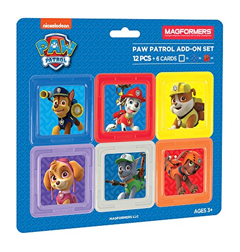 Magformers 66001 Building Kit, Paw Patrol Colors