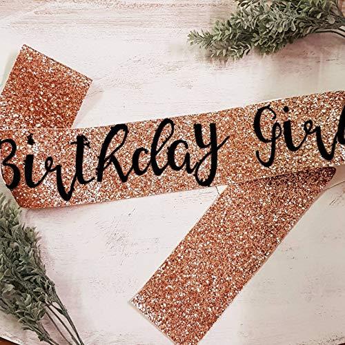 Infispace Satin Birthday Girl Sash, Golden