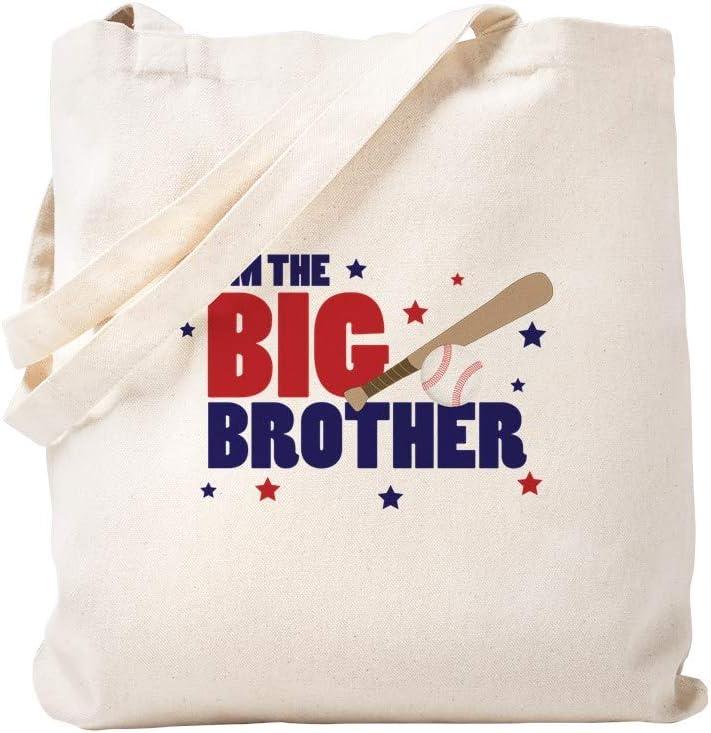 CafePress Big Brother Baseball Tote Bag Natural Canvas Tote Bag, Reusable Shopping Bag