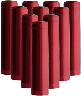 Shrink Capsules 100 Oriental Red PVC Heat Shrink Caps for Wine Bottles Matte Metallic Finish