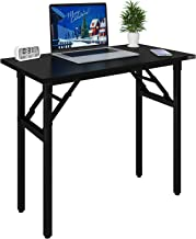 Need Folding Desk 80cm Length No Assembly Foldable Small Computer Table Sturdy and Heavy Duty Writing Desk for Small Space...