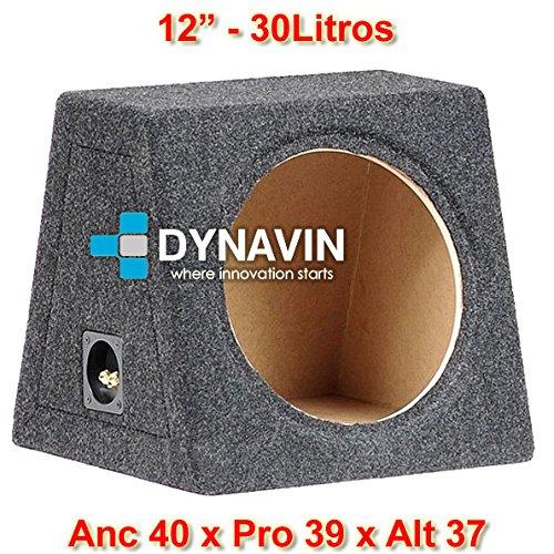 "Dynavin Caja acústica Universal para subwoofer de 8"" (200mm), 10"" (250mm), 12"" (300mm), 15"" (380mm), 18"" (450mm) (12"", Gris Oscuro)"