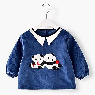 0-3 Years Old Children Waterproof Gown Bib Corduroy Waterproof Anti-fouling Anti-wear Sleeves With Bib Unisex Baby Bibs (C...