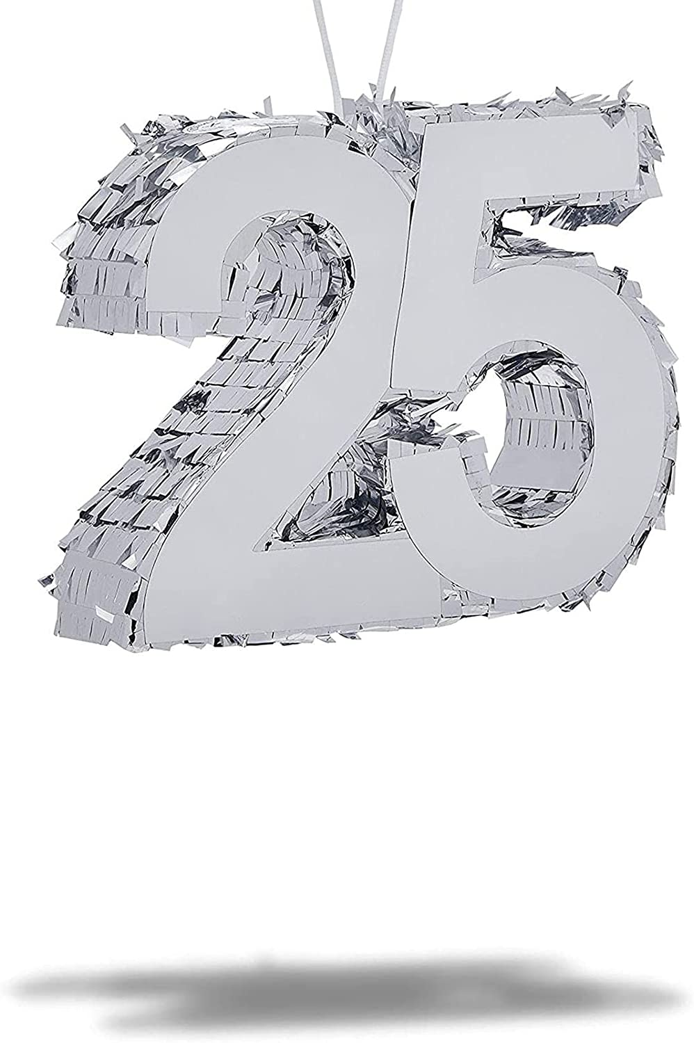Mini Fashion Pinata for 25th Birthday Party Foil 2021 new 25 Silver 6 x Number