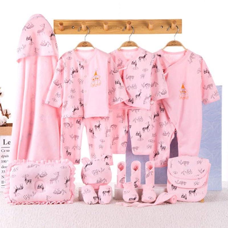 またファッションアクロバット綿四季ベビーギフトボックスの服、新生児のスーツ、赤ちゃんの春と秋の服、マルチピース用品 Orange