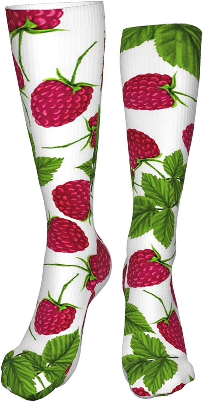 Large Cherry Women Premium High Socks, Stocking High Leg Warmer Sockings Crew Sock For Daily And Work
