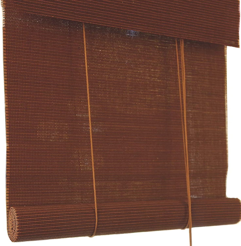 marcas de diseñadores baratos LXLA - Cortina de de de Madera para Ventana - Cortinas enrollables con Cable con 85% de projoección Anti-Ultrapúrpuraa, Cenefa Plana, marrón (Tamao   W70cm X H150cm)  venta