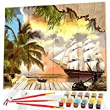 Paint by Numbers for Adults, Beginner to Advanced, Wooden Board Kit! 16x20' Framed Wood Panel, Acrylic DIY...