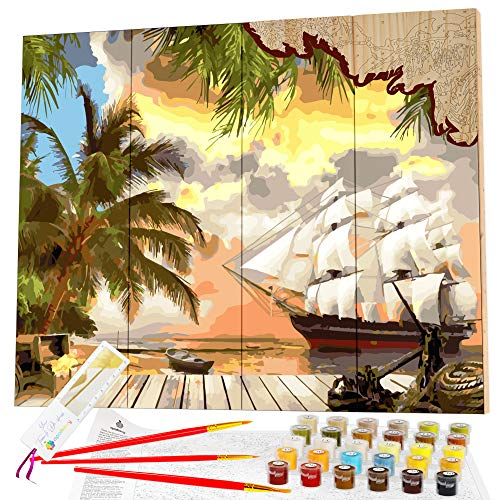 Opalberry Paint by Numbers for Adults on Wood Board - Adults' Paint-by-Number...